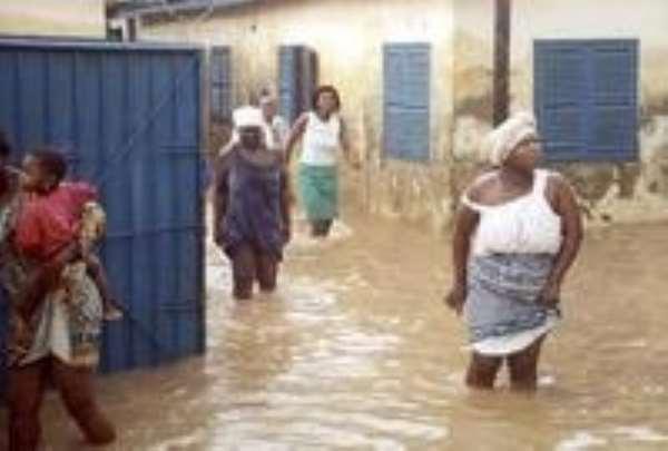Ellembele District Feeder Road Engineer visits flood area at Essiama